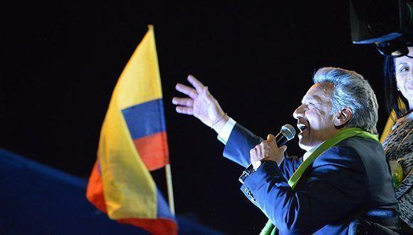 Lenín Moreno es oficialmente el nuevo presidente de Ecuador. Foto: @Lenín/ Twitter.