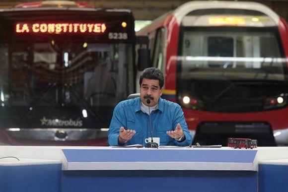 """Nada ni nadie va a detener la Constituyente"", aseguró Maduro durante un programa televisivo. Foto: @PresidencialVen/ Twitter."