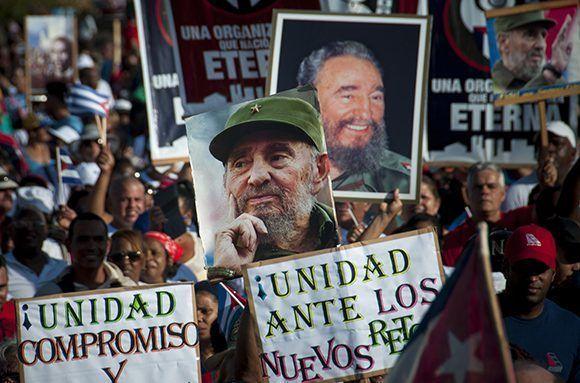 Desfile del 1ro de Mayo de 2017 en La Habana. Foto: Irene Pérez/ Cubadebate.