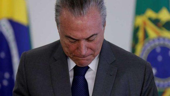 El presidente de Brasil, Michel Temer. Foto: Reuter.