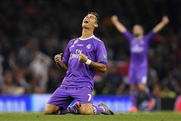 Cristiano tuvo un partido histórico en el que rompió varios récords de la Champions. Foto: Getty.