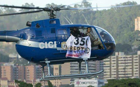 Un helicóptero atacó el Tribunal Supremo de Venezuela Foto: @RCamachoVzla/ Twitter.