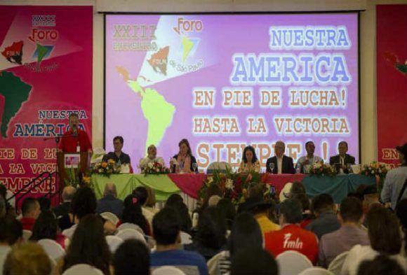 Resultado de imagen para Declaración Final XXIII Foro de Sao Paulo: Nuestra América en Pie de Lucha