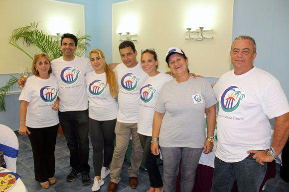 Algunos de los integrantes del proyecto Más agua para todos. Foto: Fidel Alejandro Rodríguez/ Cubadebate.