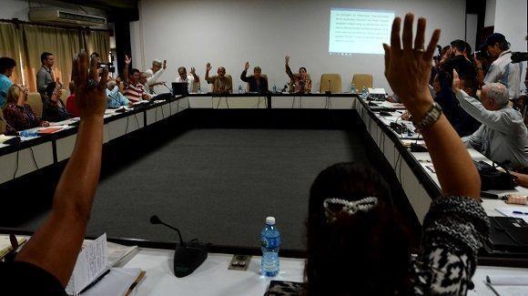 Diputados miembros de la Comisión de Relaciones Internacionales aprueban la Declaración. Foto: Marcelino Vázquez Hernández.