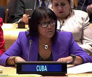 La representante permanente de Cuba ante las Naciones Unidas, Anayansi Rodríguez. Foto tomada de PL.