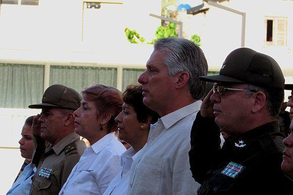 Parte de la presidencia del acto. Foto: Cinthya García Casañas/ Cubadebate.
