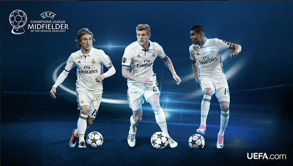 ¿Modric, Kroos o Casemiro? Foto: UEFA.