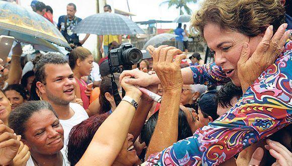 Rousseff participó de la caravana de Lula da Silva en el nordeste de Brasil. Foto: Página 12