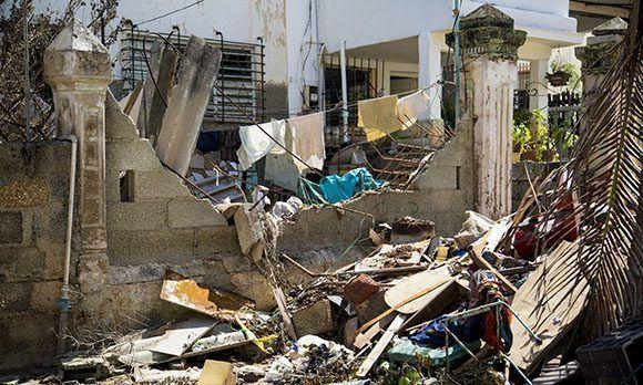 Desastre de Irma en el Vedado. Foto: Jennifer Romero/ Cubadebate.