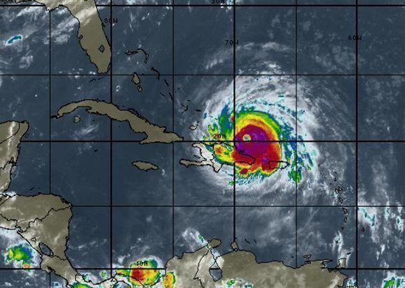 El poderoso huracán categoría 5 se acerca a Cuba con vientos que superan los 280 km/h. Imagen: INSMET Cuba.