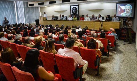 Acto de entrega del Premio Anual de Salud 2017, en la sede del ministerio de Salud Pública de Cuba. Foto: Marcelino Vázquez/ ACN.