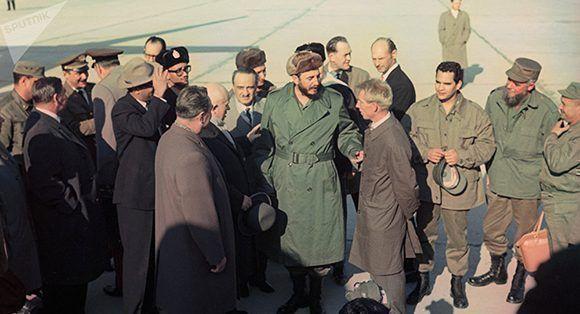 Fidel lors d'une visite en Union soviétique. Photo: Yuri Abramochkin / Spoutnik.