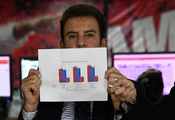 """Salvador Nasralla pidió ayer que un """"tribunal internacional"""" revise la totalidad de las actas sin la presencia del TSE. Foto: La Prensa."""
