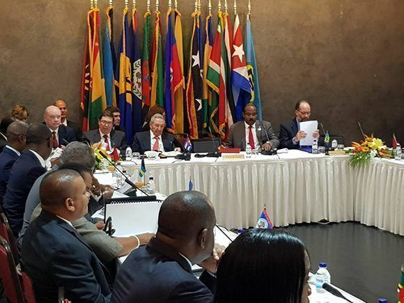Inicia en Antigua y Barbudas la VI Cumbre de la Comunidad del Caribe y Cuba. Foto: Gilda Lopez Mestre/ Facebook.