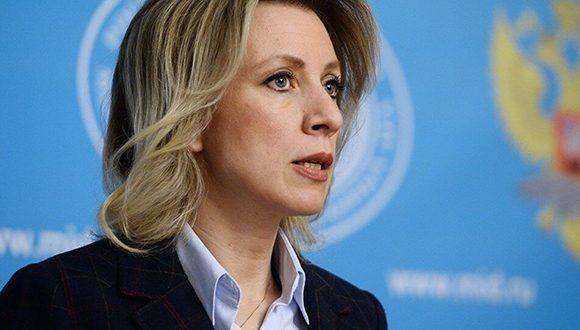 María Zajárova, portavoz del Ministerio de Exteriores de Rusia. Foto: Sputnik.