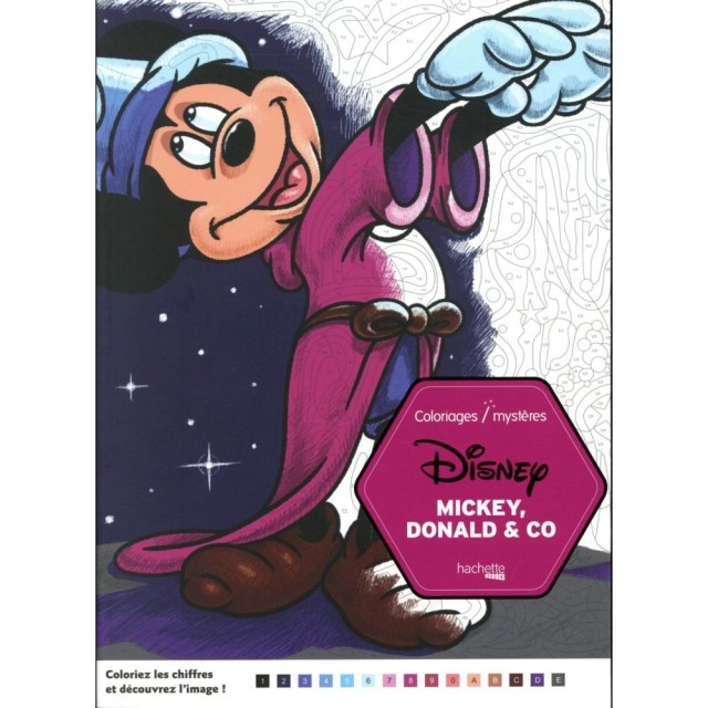 Mickey - Coloriages mystères disney - mickey, donald & co