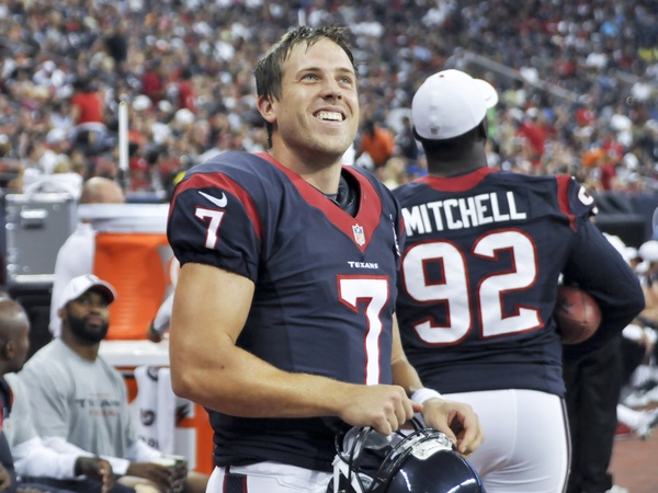 Case Keenum Texans smiling