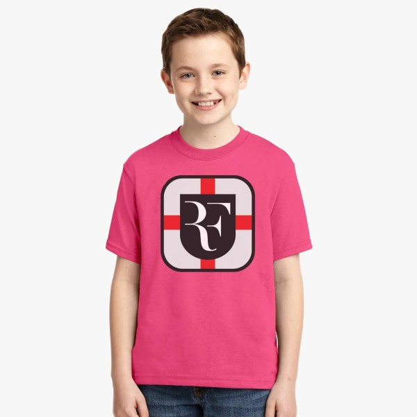 Roger Federer Open Court Logo Youth T-shirt - Customon