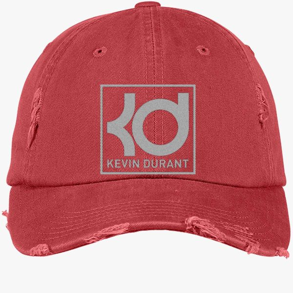 Kevin Durant Distressed Cotton Twill Cap Embroidered