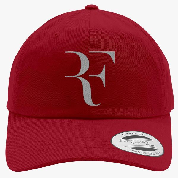 Roger Federer Silver Cotton Twill Hat Embroidered - Customon
