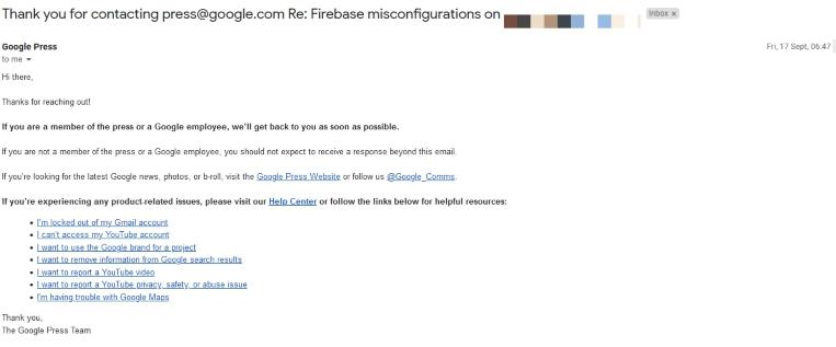 Google press email screenshot<br>