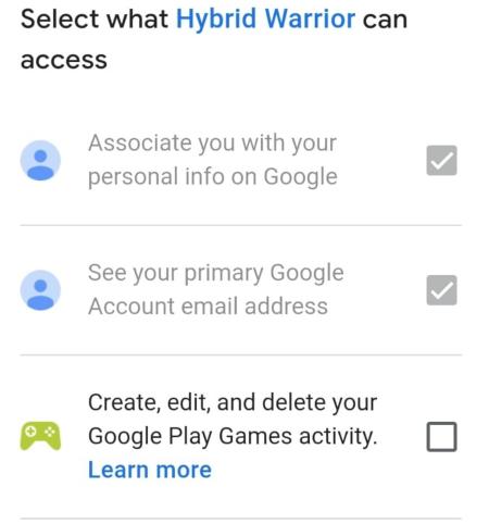 Hybrid Warrior permissions