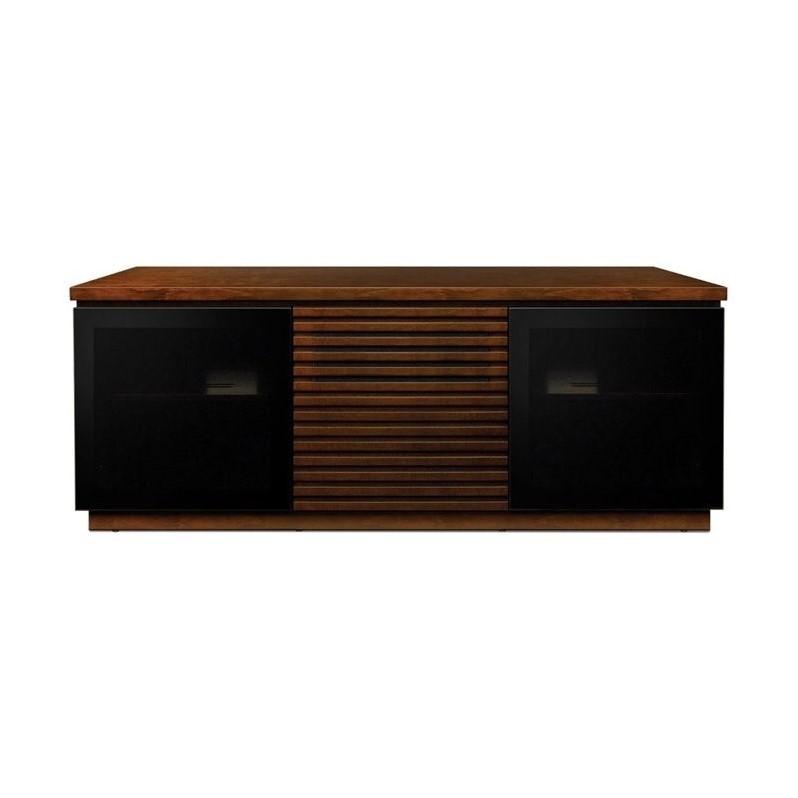 Contemporary 65 Wide Espresso Finish Wood AudioVideo