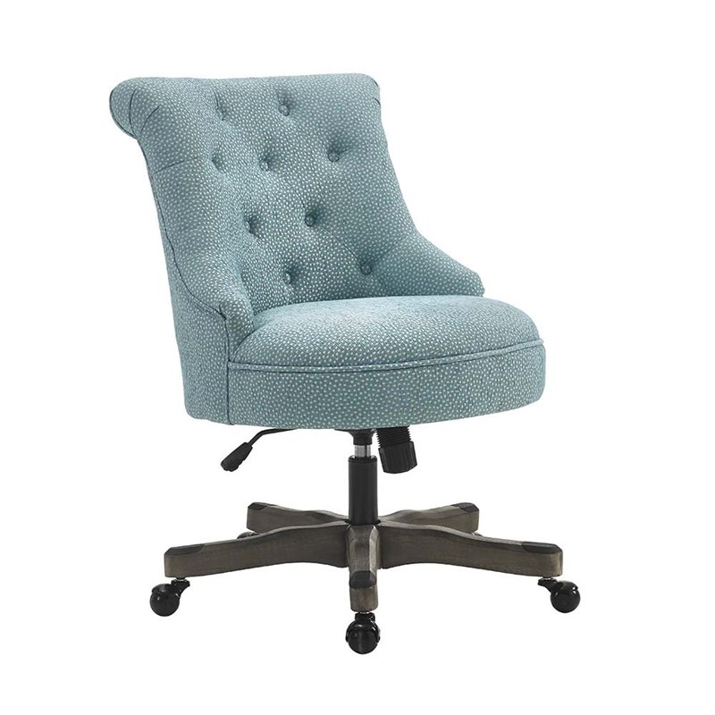 office chair fabric in chinese character linon sinclair swivel upholstered light blue 178403ltblu01u