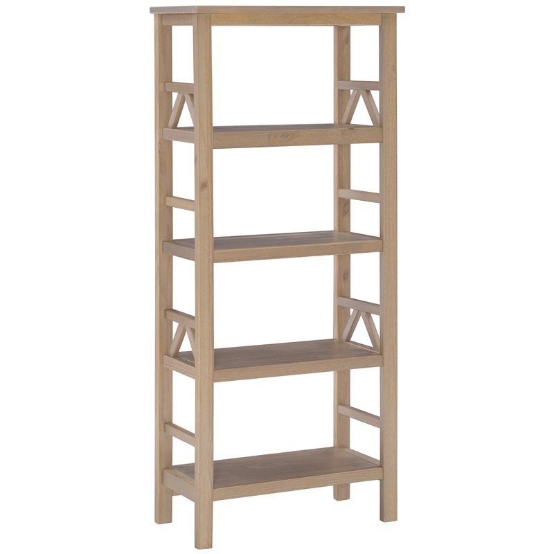4 Shelf Bookcase in Rustic Gray  86150GRY01U