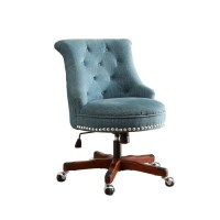 Armless Upholstered Office Chair in Aqua - 178403AQUA01U