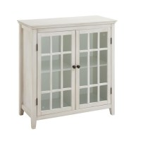 Antique Double Door Curio Cabinet in White - 650200WHT01U