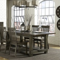 Magnussen Karlin Wood Rectangular Dining Table in Grey ...