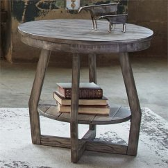 Liberty Dining Chairs Middy Fishing Chair Accessories Furniture Hayden Way Round End Table In Gray Wash - 41-ot1020