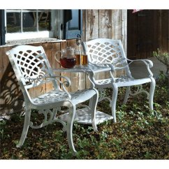 Tete A Chair Outdoor Swivel Armchair Alfresco Home Patio Bench With Umbrella Hole In White 56 1201