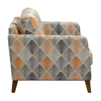 Diamond Sofa Keppel Patterned Fabric Accent Chair in ...