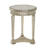 Bassett Mirror Borghese Mirrored Round End Table with ...