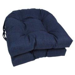 Wicker Chair Cushions With Ties Cream Leather Blazing Needles U Shape 16 Patio Cushion Set Of 2