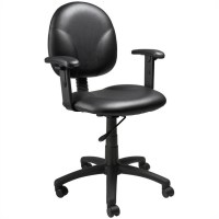 Mid-Back Ergonomic Plastic Chair with Arms - B9091