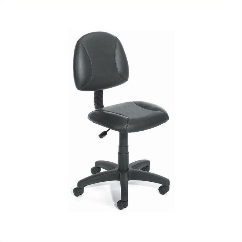 posture deluxe chair zero gravity chairs lowes adjustable black leather b305