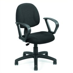 Posture Deluxe Chair Gray And Yellow With Loop Arms B317