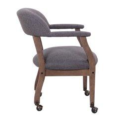 Rustic Office Chair Dancer On Boss Refined Desk In Slate Gray Commercial Grade