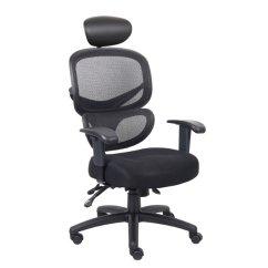Mesh Task Chair James Harrison Boss Multi Function With Headrest B6338 Hr