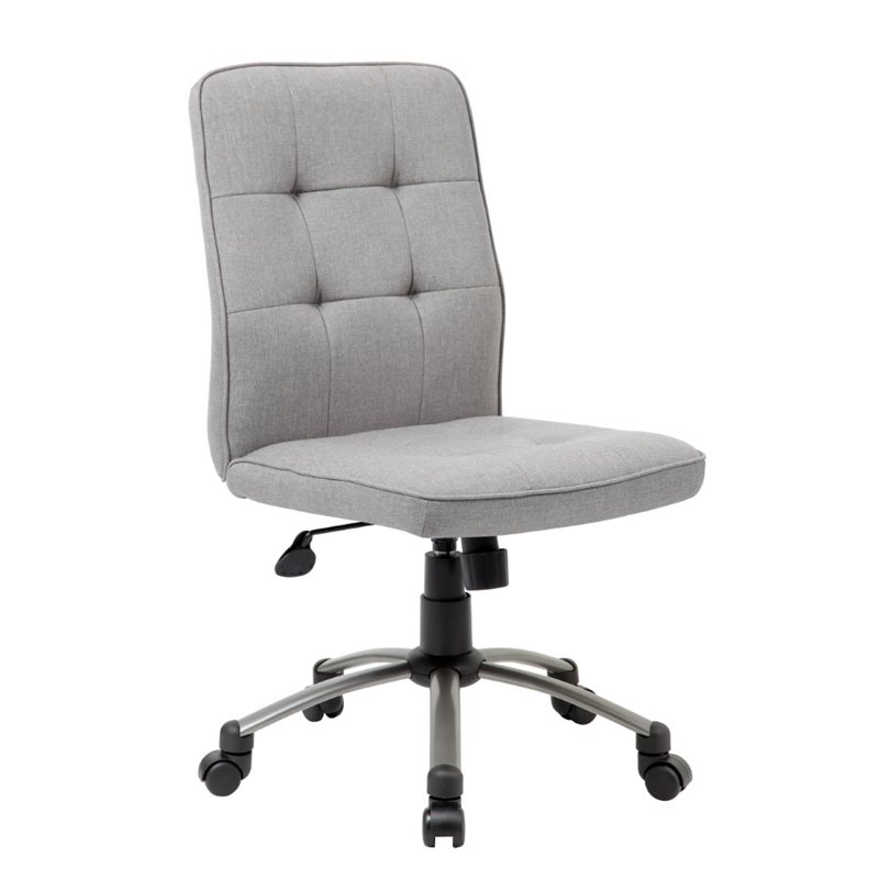 pretty office chairs patio plastic boss parsons modern armless chair in taupe b330pm tp