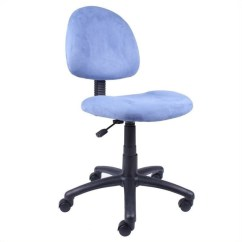 Posture Deluxe Chair Black Leather Dining Fabric In Blue B325 Be