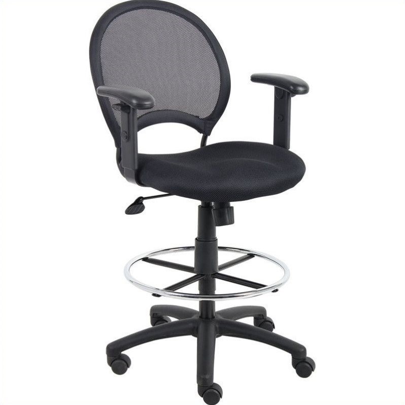 Mesh Drafting Chair with Adjustable Arms  B16216