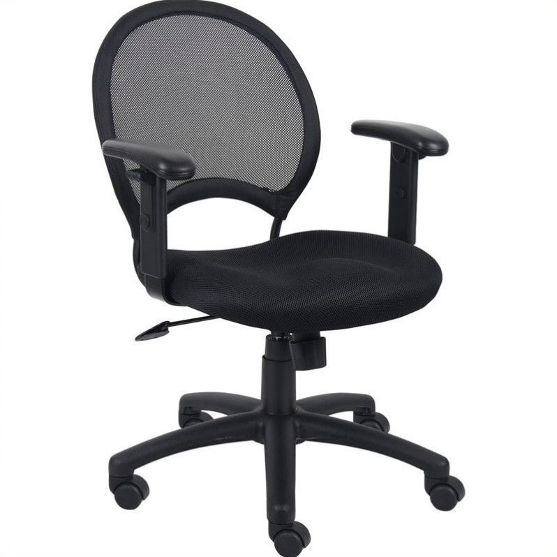 office chair with adjustable arms recliner hire mesh back task b6216