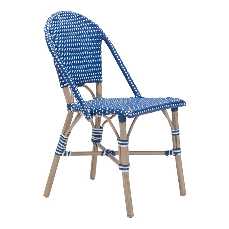 navy blue dining chairs set of 2 tot spot folding lounge chair zuo paris patio in and white 703804
