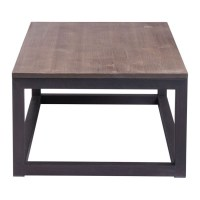 Zuo Civic Center Long Coffee Table in Distressed Natural ...