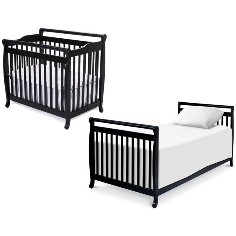 DaVinci Emily Mini 2in1 Convertible Crib with Twin Bed